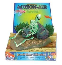 Penn Plax Penn Plax Action-Air Skeleton with Jug & Treasure Chest