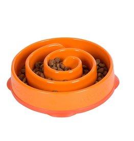 Outward Hound Outward Hound Fun Feeder Coral Orange Regular