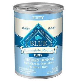 Blue Buffalo Blue Homestyle Recipe Puppy Chicken Dinner with Garden Vegetables 12.5oz