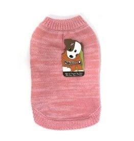 Doggie-Q Doggie-Q Marled Pink Sweater - 14in