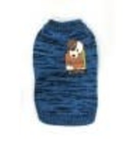 Doggie-Q Doggie-Q Marled Blue Sweater - 10in