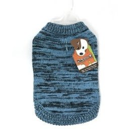 Doggie-Q Doggie-Q Marled Teal Sweater - 6in