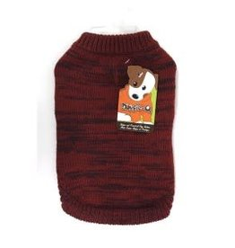 Doggie-Q Doggie-Q Marled Red Sweater - 12in