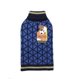 Doggie-Q Doggie-Q Blue Geo Sweater - 16in