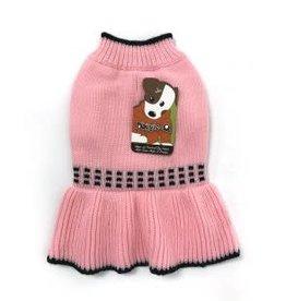 Doggie-Q Doggie-Q Pink Squares Sweater - 14in