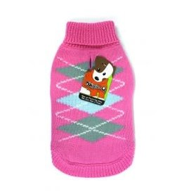 Doggie-Q Doggie-Q Pink Diamonds Sweater - 18in