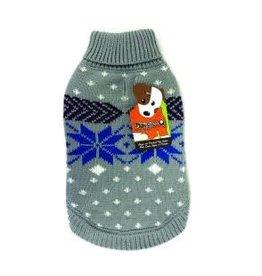 Doggie-Q Doggie-Q Snowflake Sweater - 8in