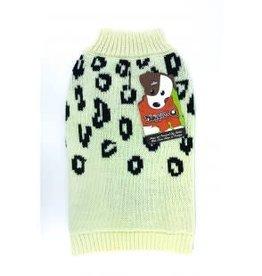 Doggie-Q Doggie-Q Leopard Sweater - 18in