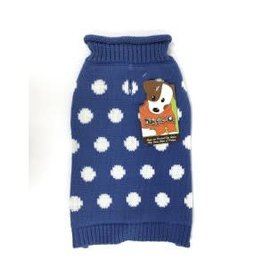 Doggie-Q Doggie-Q Polka-Dot Sweater -18in