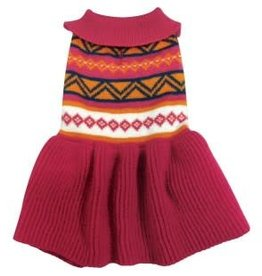 Doggie-Q Doggie-Q Knitted Dress - Pink Navajo - 14in