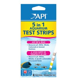 API API 5 in 1 Aquarium Test Strips - 4 pk