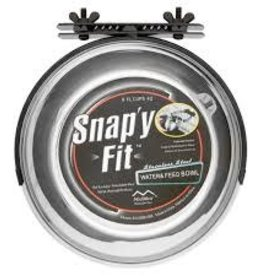 Mid West Snappy Fit SS Bracket/Bowl 1QT