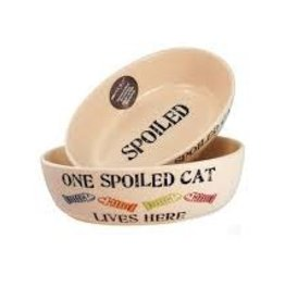 Petrageous Petrageous One Spoiled Pet Oval Cat Dish 2 cups