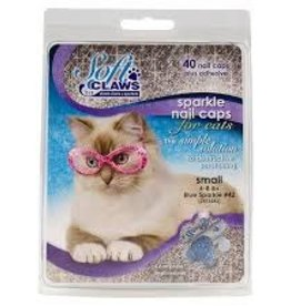 Softclaws Softclaws Cat Blue Sparkle Small