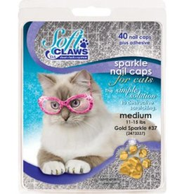 Softclaws Soft Claws Cat Gold Sparkle Medium