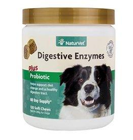 NaturVet Naturvet Digestive Enzymes & Probiotic Soft Chew 120CT