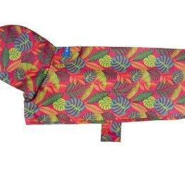 RC Pets RC Pets Packable Rain Poncho Tropical Foliage XS