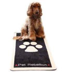 Pet Rebellion Pet Rebellion Stop Muddy Paws Black