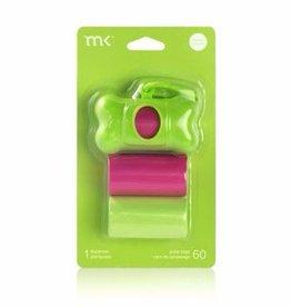 Modern Kanine Modern Kanine Dispenser Green & Pink