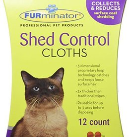 FURminator FURminator Shed Control Cloths for Cats - 12 pk