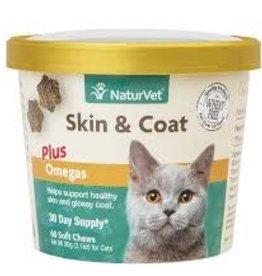 NaturVet Naturvet Skin & Coat Omegas Cat Soft Chew 60CT