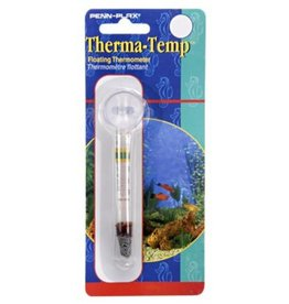 Penn Plax Penn Plax Thermometer Glass, Floating with Suction Cup