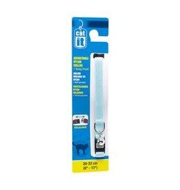 "Catit Catit Adjustable Nylon Cat Collar with Breakaway Snap - Blue - 9.5 mm (3/8"") x 20 cm - 33 cm (8-13"")"