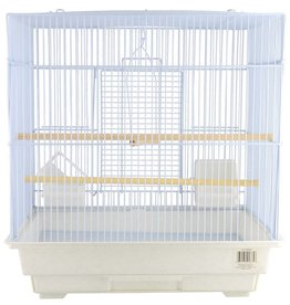 Penn Plax Penn Plax Small Bird Cage Kit - Square-Style - White