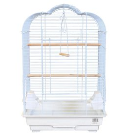 Penn Plax Penn Plax Medium Bird Cage Kit - Scalloped Top - White