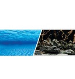 "Marina Marina Double Sided Aquarium Background - Sea Scape/Natural Mystic - 24"" x 1ft"