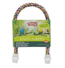 Living World Multi-Coloured Cotton Perch - 16 mm dia x 53 cm L
