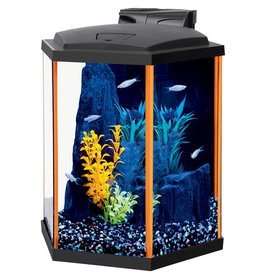 Aqueon Aqueon NeoGlow LED Aquarium Kit - Hex - Orange - 8 gal