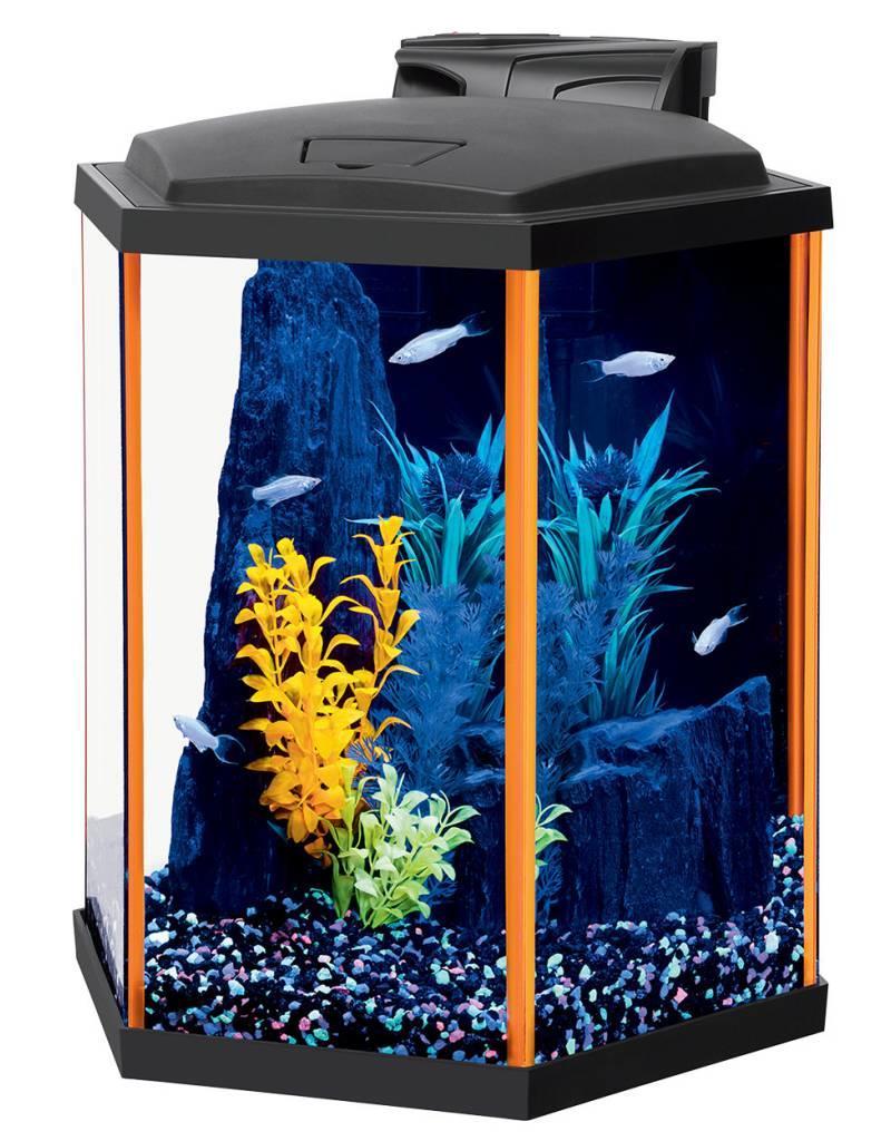 Aqueon Aqueon NeoGlow LED Aquarium Kit - Hex - Orange - 8 gal