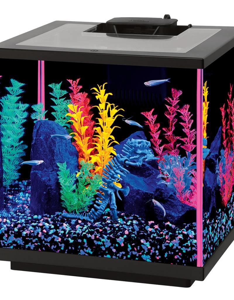 Aqueon Aqueon NeoGlow LED Aquarium Kit - Cube - Pink - 7.5 gal