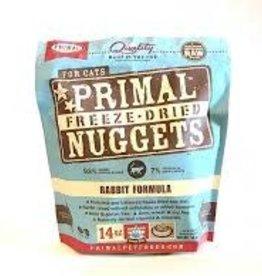 Primal Primal Freeze-Dried Feline Nuggets Rabbit Formula 14oz