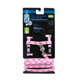 Catit Catit Style Adjustable Cat Harness & Leash Set - Ribbon, Medium