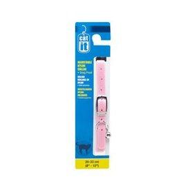 """Catit Catit Buckle Nylon Cat Collar - Pink - 9.5 mm (3/8"""") x 20 cm - 33 cm (8-13"""")"""