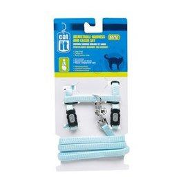 Catit Catit Adjustable Nylon Cat Harness & Leash Set - Blue, Small
