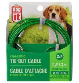 Dogit Dogit Tie Out Cable - Small - Green - 10 m (3 ft)