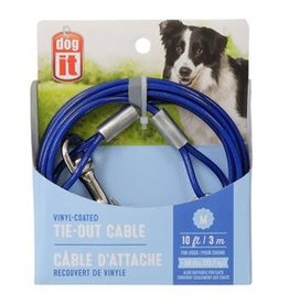 Dogit Dogit Tie-Out Cable - Blue - Medium - 3 m (10 ft)