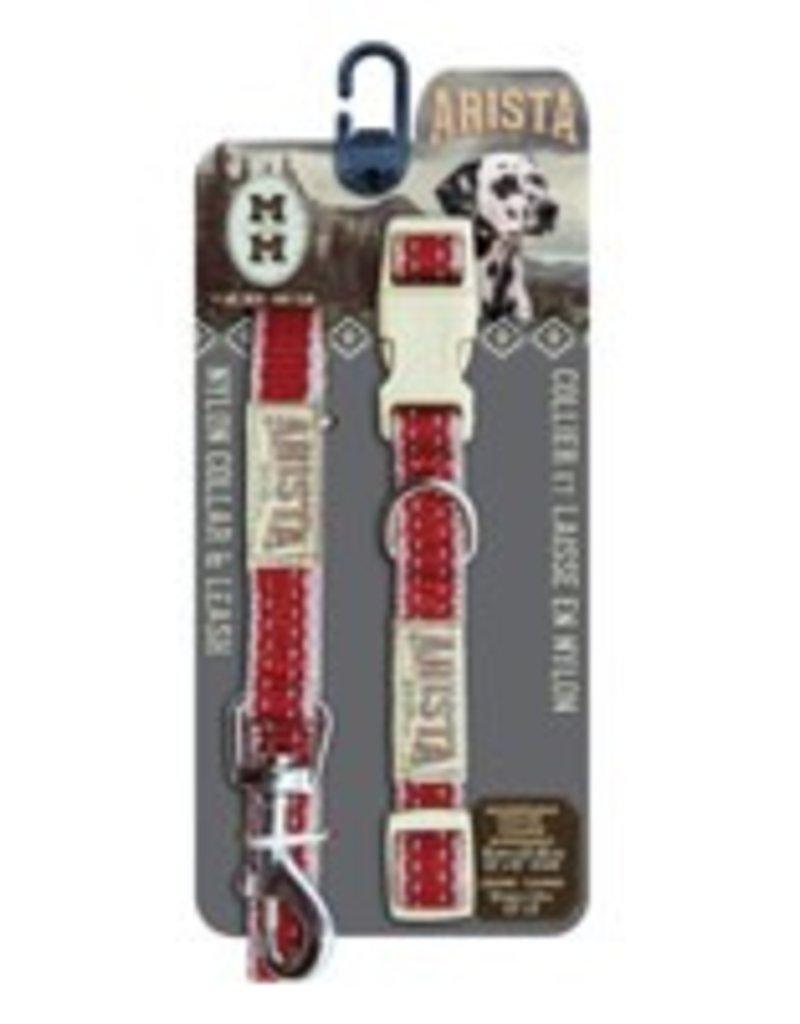 Zeus Arista Collar & Leash Set - Medium - Red