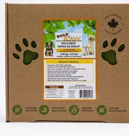 Bold Raw Bold Raw Bold Beef 6.5lb Patties for Dogs