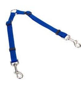 """Coastal 2 Dog Adjustable Nylon Coupler 3/4""""x 24 36"""" Blue"""
