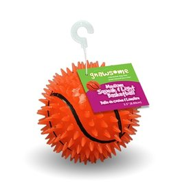 Gnawsome Gnawsome Squeak & Light Basketball 3.5''