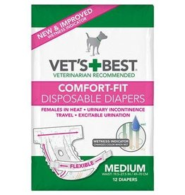 Vets Best Disposable Female Diaper Medium 12pk