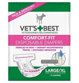 Vets Best Disposable Female Diaper Large/XLarge 12pk