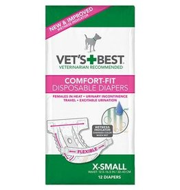 Vets Best Disposable Female Diaper XSmall 12pk