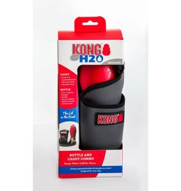 Kong KONG H2O Dog Bottle and CADDY Combo Red 25 oz