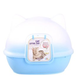 Animal Treasures Animal Treasures Kitty Kan Litter Dome - Blue