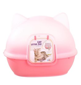 Animal Treasures Animal Treasures Kitty Kan Litter Dome - Pink